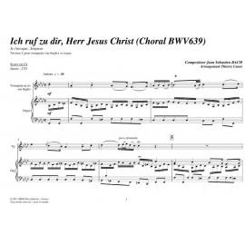 PDF - Ich ruf zu dir, Herr Jesus Christ (Choral BWV639) - BACH Jean Sébastien