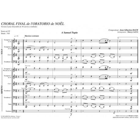 PDF - Choral Final Oratorio de Noël V2 - BACH Jean Sébastien
