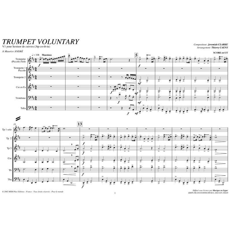 PDF - Trumpet Voluntary - CLARKE /Caens