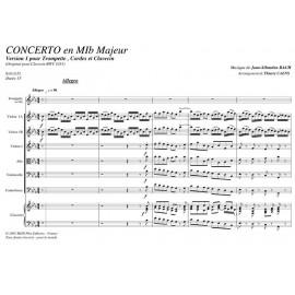 Concerto en Mib Majeur - BACH Jean Sébastien