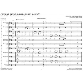 PDF - Choral Final Oratorio de Noël V3 - BACH Jean Sébastien