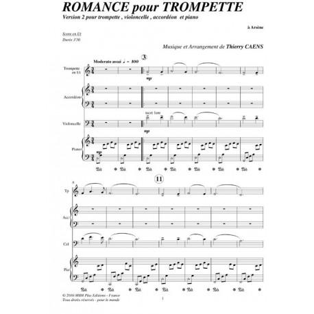 Romance pour trompette - CAENS Thierry
