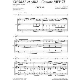 Cantate BW75 - Choral et Aria - BACH Jean Sébastien /JL GIL