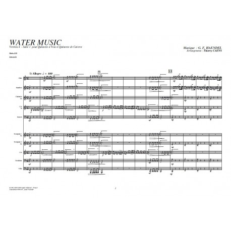 Water Music suite in F (V4) - HANDEL /Caens