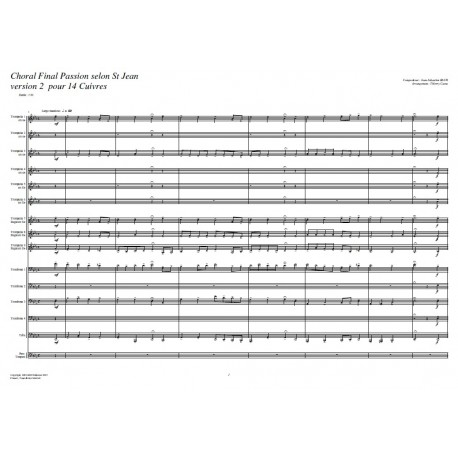 Choral Final Passion selon St Jean (V2) - BACH/ Caens