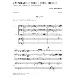 PDF - Six miniatures pour trois fourchettes - CAENS Thierry